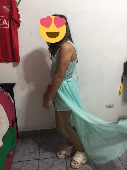 Vestido/mono De Fiesta Verde Agua-talle 1 - (2 Posturas)