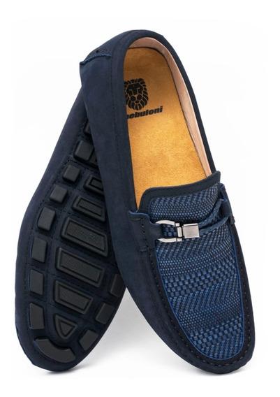 Zapato Hombre F.nebuloni Casual Tipo Mocasín Blue Night