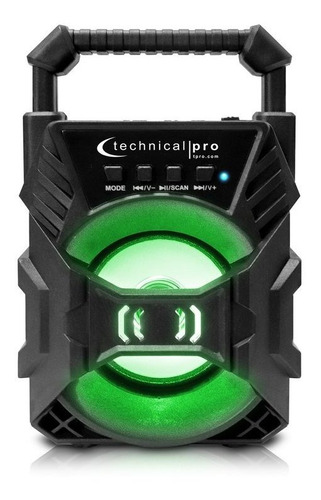 Corneta Technical Pro Recargable Bluetooth Led Speaker Nuevo