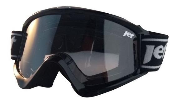 Óculos Motocross Jet New Commando Preto Brilhante
