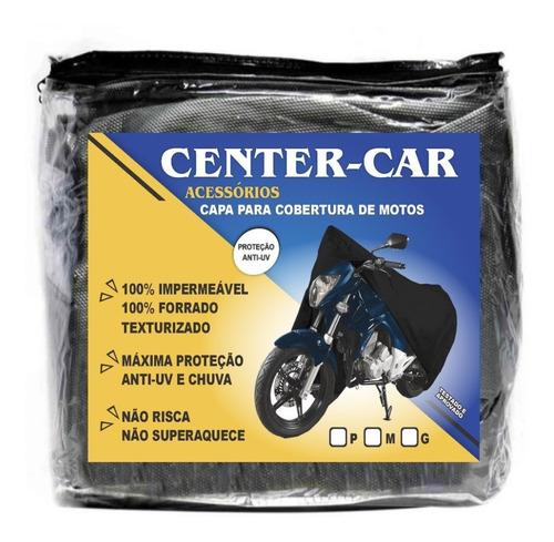 Imagem 1 de 5 de Capa Cobrir Moto Proteção Sol Chuva P M G  100% Forrada