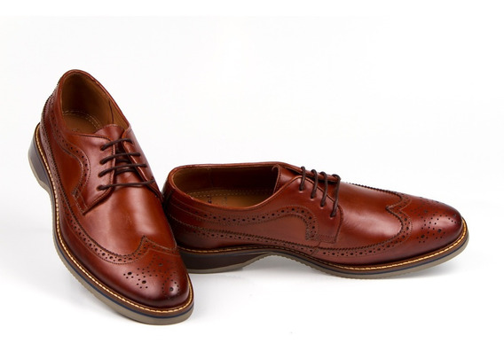 Sapato Casual Brogue Prime Anatomic Gel 5436 Oxford +brinde