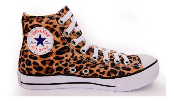 Tênis Converse All Star Cano Alto Oncinha Animal Print