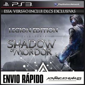 Middle Earth Shadow Of Mordor + Dlcs Jogos Midia Digital Ps3