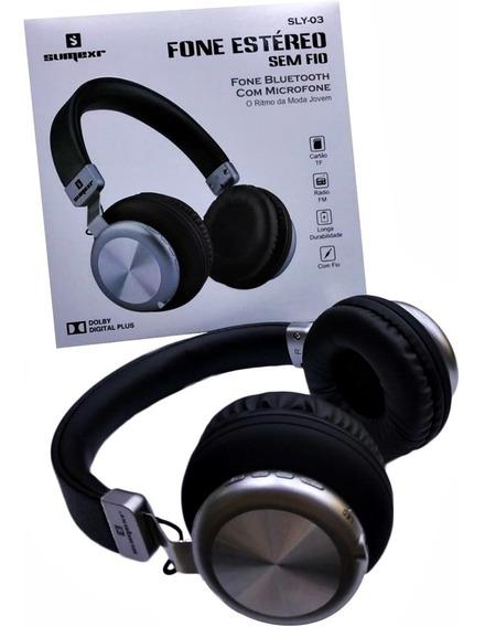 Fone De Ouvido Estéreo Sem Fio - Bluetooth Microfone Sly-03