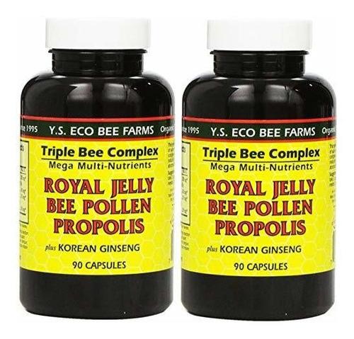 Jalea Real, Polen De Abeja,y.s. Eco Bee Farms  90 Cápsulas