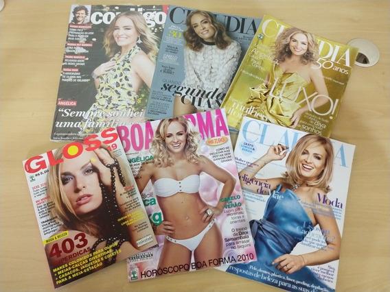 Lote Com 6 Revistas Com Angélica Na Capa F077