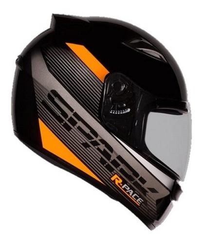 Capacete Spark Preto/laranja 60 Ebf Modelo R-pace