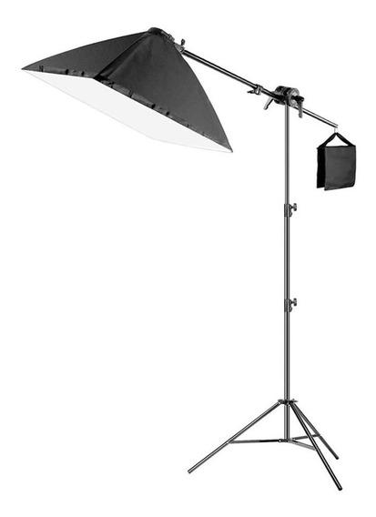 Softbox Caja De Luz 50x70cm Iluminación + Paral Articulado