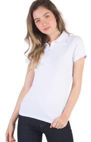 4 Camisas Polo Feminina Piquet 100% Polister -varias Cores