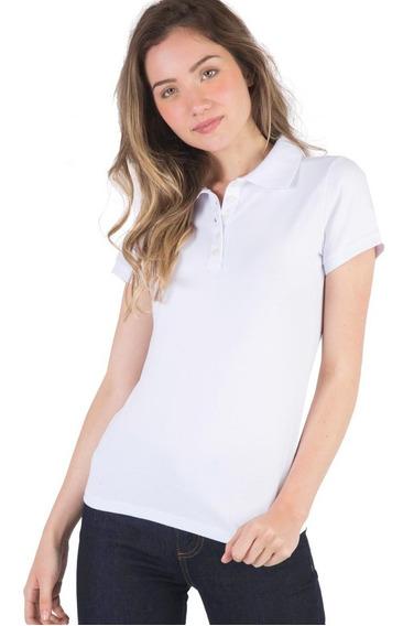 5 Camisas Polo Feminina Piquet 100% Polister -varias Cores