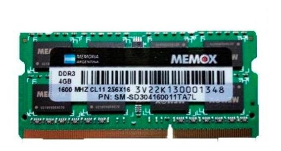 Memoria Notebookr Ram ( 4gb Ddr3 1600 Sodimm ) 1.35v Caba