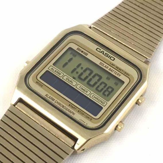 Raro Relógio Digital Antigo Casio Solar Sa-60g Anos 70