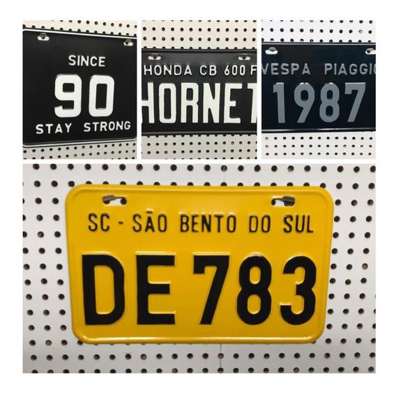Placa Personalizada De Moto