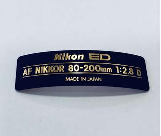 Nikon 80-200mm Placa De Información