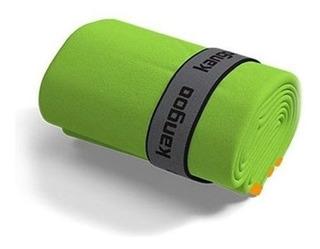 Toalla De Microfibra Kangoo Talla M Color Verde Con Naranja