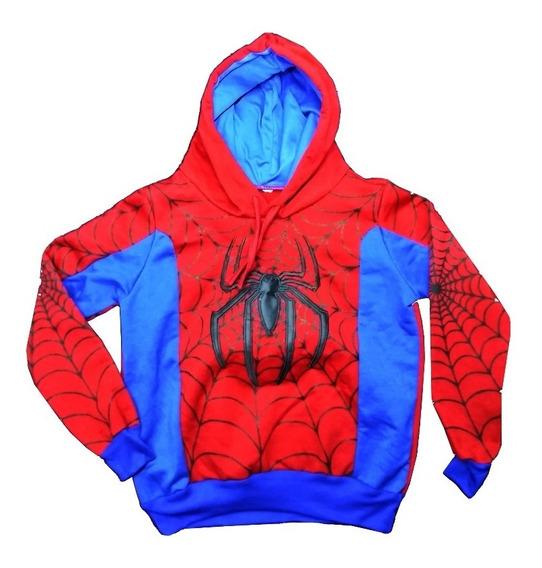 Sudadera, Chamarra, Sueter Infatil Niño De Spiderman Bordada