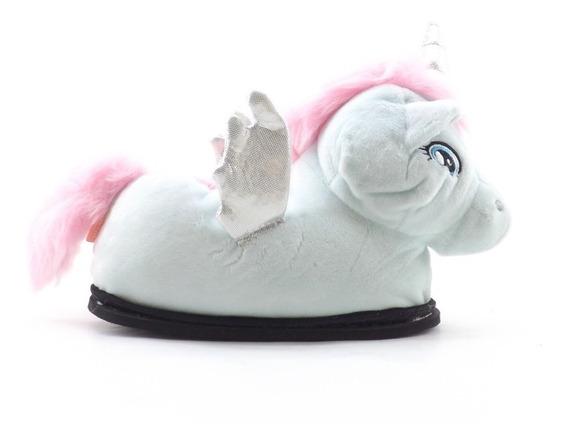 Pantuflas Unicornio Nuevas Nena Cerradas Livianas Invierno