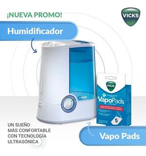 Promo Humidificador Vick Vapor Tibio 750 + Vapopads