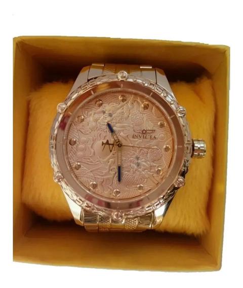 Relógios Masculinos Em Aço Dourado/prata Pesado Grande Top
