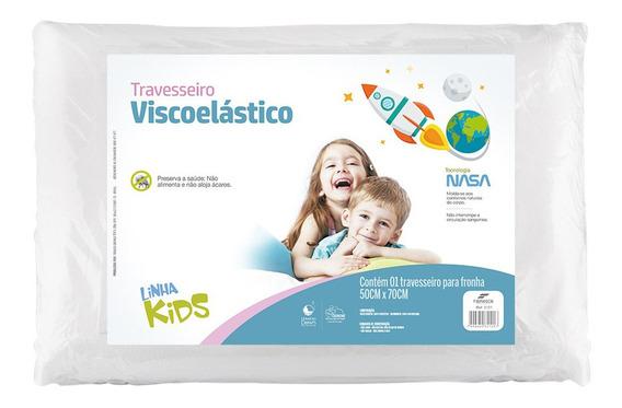 Travesseiro Nasa Visco Kids Infantil Fibrasca