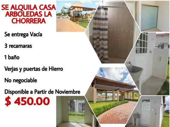 Se Alquila Casa En Arboledas, Chorrera $450.00