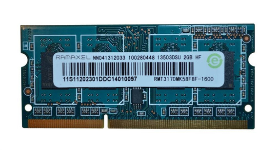 Memoria Ram Ddr3 2gb Notebook Ramaxel Sodimm 1600 Mhz