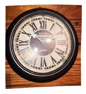Reloj De Pared Estación Modelo Vintage De Hierro Londres