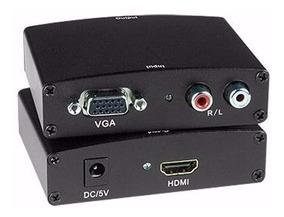 Adaptador Conversor Vga Para Hdmi Com Áudio Xbox 360 Ps3 Tv