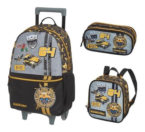 Mochila G Roda Lancheir Est Transformers Bumblebee Racer Kit