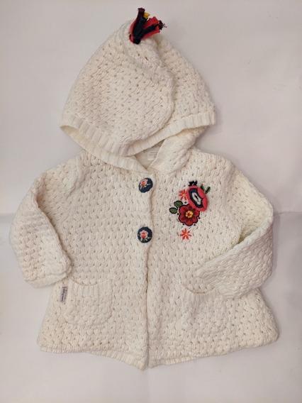 Sweater Con Capucha Para Nena. Talle 6-9 Meses. Divino