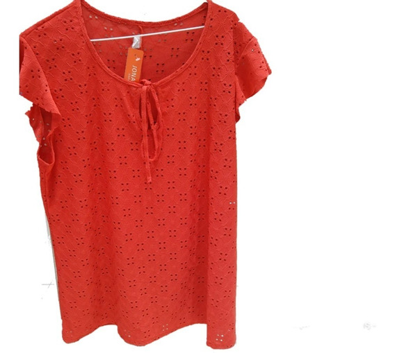 Camisa Blusa Remera De Brodery Encaje Mujer Talle L Xl Xxl