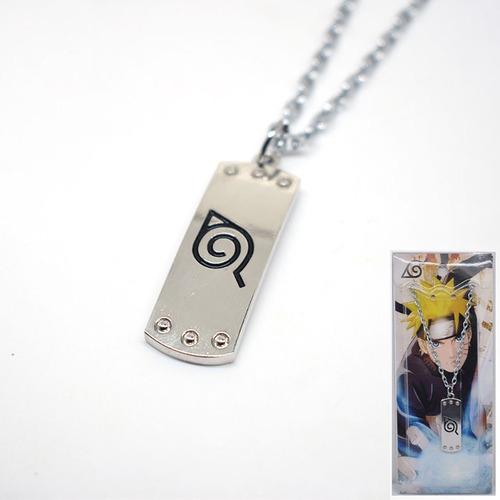 Collar Cadena Naruto Konoha Hoja Anime De Colección