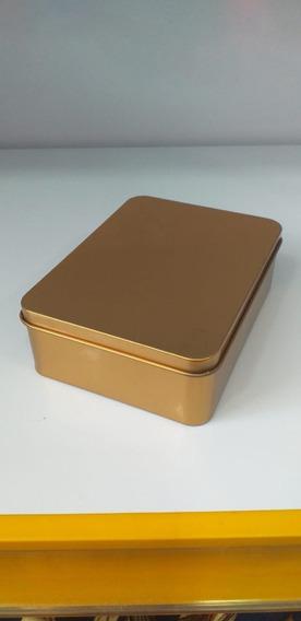 20 Latas Retangular Dourado 12x9x4