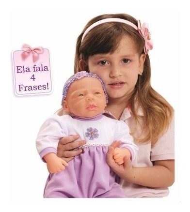 Kit 2 Boneca Baby Aninha Estilo Reborn Fala 4 Frases + Frete