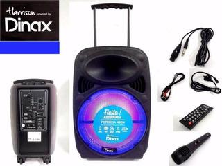 Parlante Portátil Ultrapotente + Micrófono Y Control Remoto
