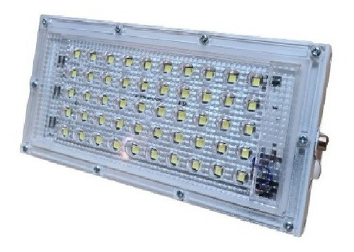 Imagen 1 de 1 de Reflector Led 50w Ultra Slim Ac175-265v Luz Fria Exterior