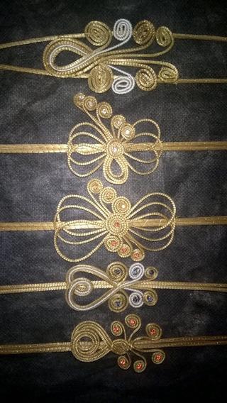 Tiara Arco Em Capim Dourado 50 Unidades