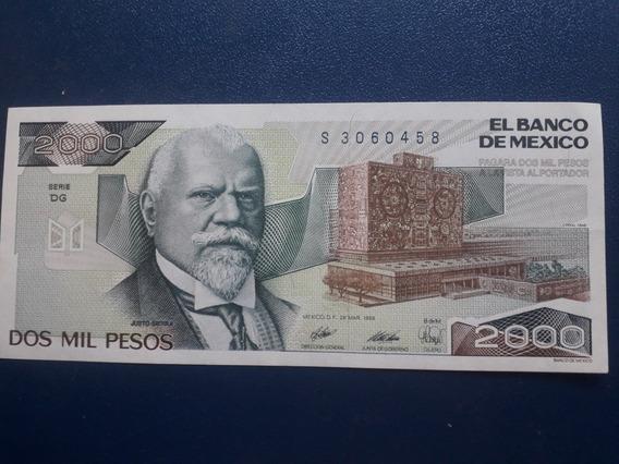 Billete 2000 Pesos Justo Sierra Nuevo