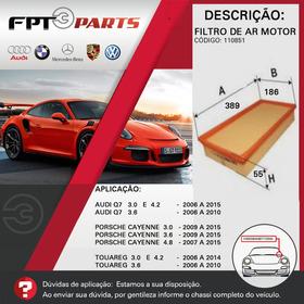 Filtro De Ar Motor Porsche Cayenne 2007 A 2015 - 3.0/3.6/4.8