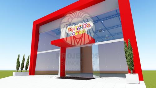 Projeto 3d Fachada E Iluminação De Lojas E Shopping