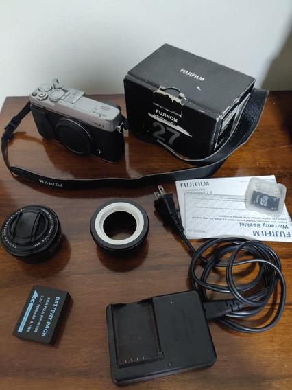Camera Mirrorles Fujifilm Xe-1 + Lente 27mm F2.8 Leia!!!