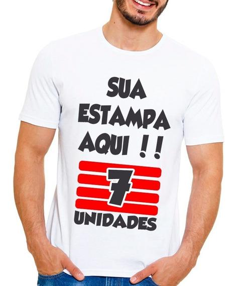 Kit 7 Camisetas Personalizada Com Sua Estampa Foto Imagem Wa