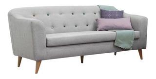 Sofá Moderno De 3 Puestos Con Patas En Madera - Orión