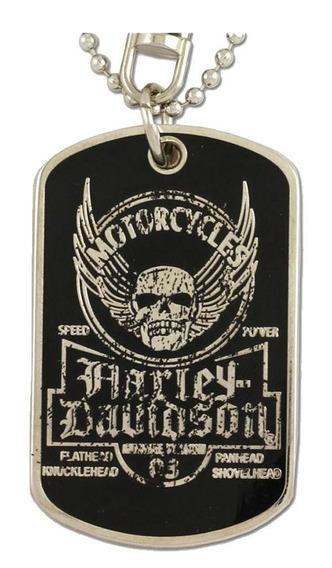 Harley Davidson Dog Tag Cordão Chaveiro Original Importado