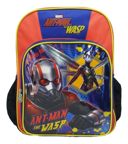 Mochila 2d Ant-man And The Wasp Primaria Marvel Hombre Hormiga Y La Avispa +envio