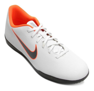 Tenis Salão Nike Mercurial Vaporx 12 Club Branco/prata/lr