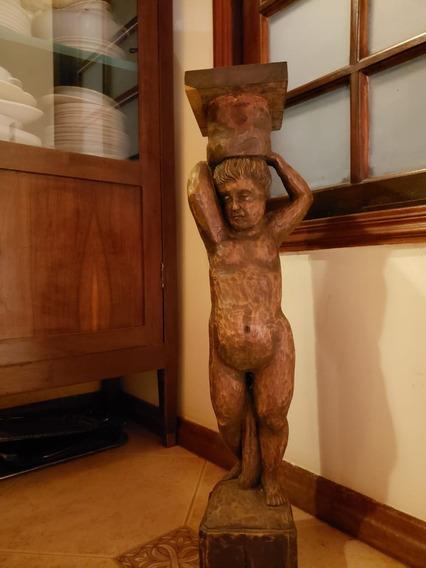Escultura De Madeira Imagem Sacra