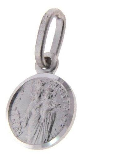 Medalla Escapulario De Plata 9mm Ma. Auxiliadora (26068)