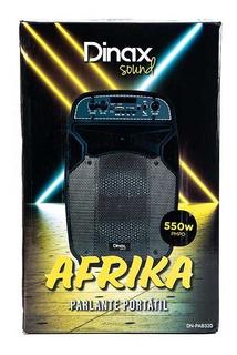 Parlante Portátil Dinax Afrika 550w Fiesta Bluetooth
